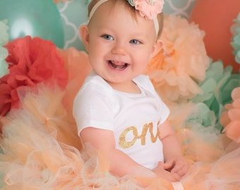 Peach and Mint Tutu Dress for Baby Girls