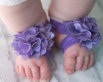 Purple Barefoot Sandals, lavender Barefoot Sandals, purple newborn sandals, baby shoes, toddler shoes, baby sandals, baby shower gift,