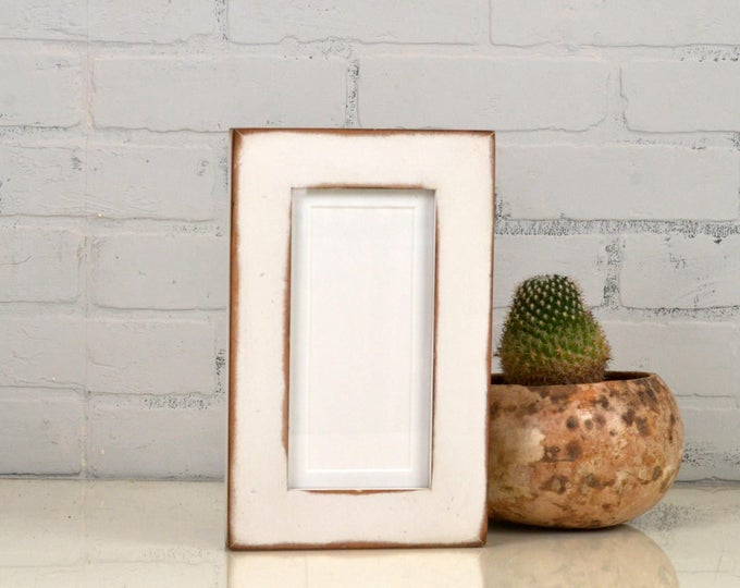 """4x8 Picture Frame for 2x6"""" Photo Booth Strip in 1.5 Standard Style with Super Vintage White on Alder Finish - IN STOCK - Same Day Shipping"""