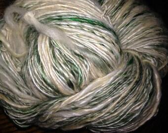 """225 Yards Luxury Silk/Merino/Alpaca /Bamboo single ply """"White Pine"""""""