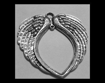 Double Angel Wing Pendant - SALE
