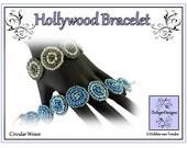Beading Pattern, Tutorial, Bracelet - HOLLYWOOD