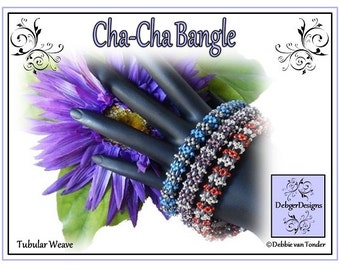 Beading Pattern, Tutorial, Bangle - CHA-CHA