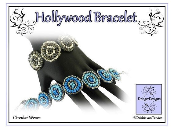 Beading Pattern, Tutorial, Bracelet - HOLLYWOOD