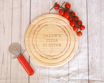 Personalised cutting board ~ Pizza Platter ~ Great gift for Father's Day