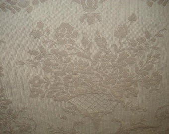 Ivory BROCADE Wheat WOVEN FLORAL Upholstery Fabric, 10-29-01-0211
