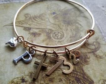Christian Bracelet, Scripture Bracelet, Christian Jewelry, Psalm 73:26, Strength, Heart, God, God is my Strength, Scripture Bangle,Necklace
