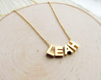 Name Necklace, Gold Letter Necklace, Personalized Jewelry for Girls, Letter Name, Personalized Necklace Name, Customizable Gift for Women