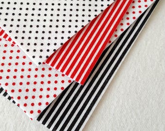 Pinstripe or Polka Dot Felt - You choose colour or pattern - 8x12 inches (priced per sheet)