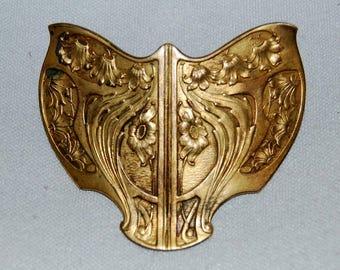 Vintage / FN&C / Signed / Fishel, Nessler Company / Art Deco / Art Nouveau / Shield / Brooch / Victorian / Old / jewellery / jewelry