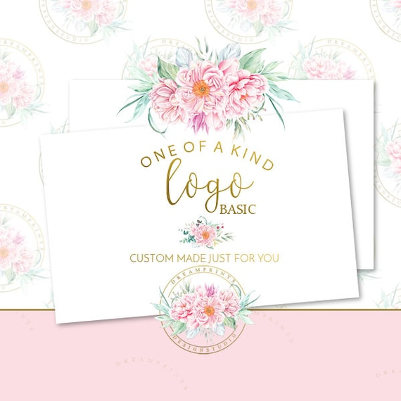 Custom-One Of A Kind Basic Logo Set | Business Branding | Business Package | Etsy Shop | Small Business | Etsy Graphics | Etsy Designs
