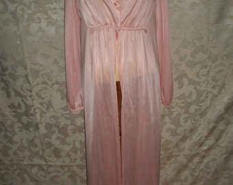 Vintage 80s Long Tall Nylon Robe Lane Bryant