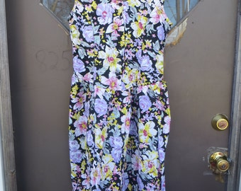 Vintage 1990s Chandni Cotton Floral Made in Pakistan Dress  sun dresss  sz med new w tag