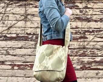 Gold Leaf Messenger Bag
