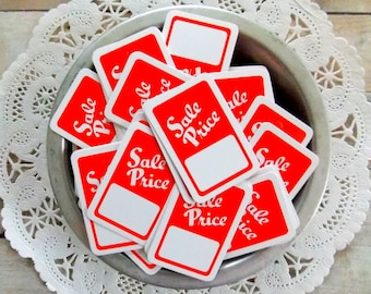 Red & White Sale Price Sale Tags / Junk Journal / Daily Planner