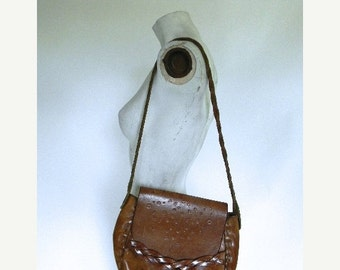 20% OFF SALE vintage. 70s Classic Handmade Bag // Leather Purse // Hippie Bohemian