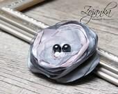 Floral Pin brooch, organza satin handmade fabric flower brooch, textile brooch, flower pin brooch, textile accessories, spring fashion