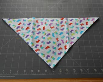 Rain Boots Dog Bandana, spring, neckerchief, March, April, gardening, wellington, wellies