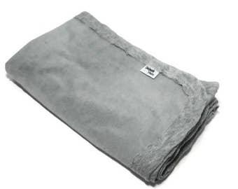 Gray Baby Blanket   Grey Stretchy Knit Swaddling Blanket   Stretch Infant Baby Swaddler Blanket   Large Newborn Cotton Jersey Baby Wrap