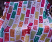 SPRING SALE - Country Lane Modern Patchwork Twin Quilt