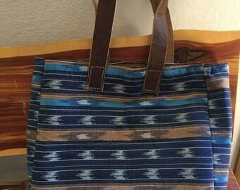 Blue southwestern bag