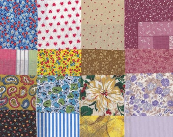 Fabric Precut 3 Inch Squares - 50 Pieces - Cotton Material 4 Charm Quilting, Piecing, Scrapbooking, Miniature Projects, Inventory #  9 A