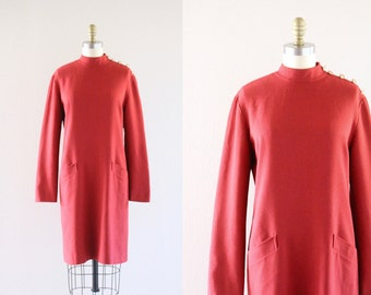 S A L E paprika wool chemise dress  - see details