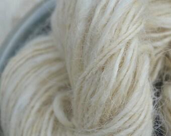 Hand spun Yarn; Greyfaced Dartmoor.  96 yards; 4.5 oz