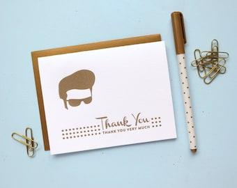 elvis thank you letterpress card