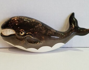Vintage ESD Japan Anthropomorphic Whale Wall Hanging Plaque...RARE