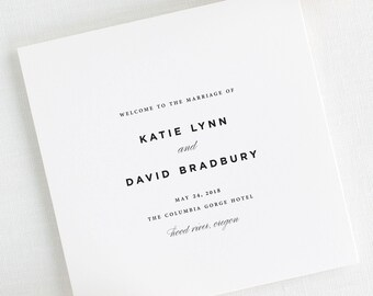 Classic Urban Wedding Programs - Deposit