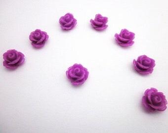 Magenta Flowers -- DIY Resin Flowers -- Magenta Cabochons -- Wholesale Mini Flower Supplies -- Magenta Flower Supply -- Magenta Rose Flower
