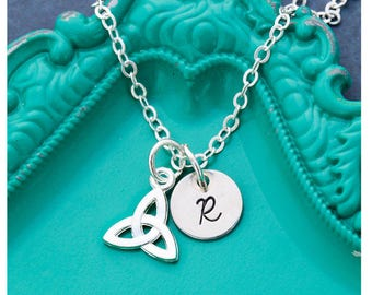 SALE • Love Knot Necklace Celtic Knot Charm • Lucky Necklace Charm Luck Good • Friend Gift • Friendship Necklace Friend Sister Gift Small