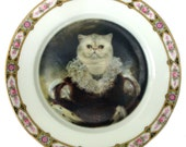 """Queen Nadira of Persia - Altered Vintage Plate 6.9"""""""