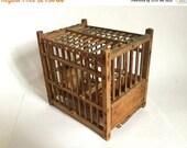 Antique Wooden Decorative Birdcage