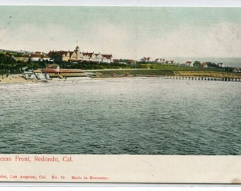 Ocean Front Beach Hotel Redondo Beach California 1907c postcard
