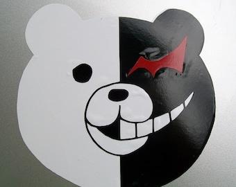 Dangan Ronpa Monokuma Monobear full color vinyl car decal