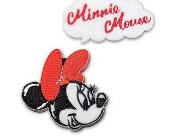 Disney Minnie Mouse  Iron on Embroidery Patch Applique from Japan MY410