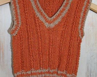 KNITTING PATTERN- Baby Vest knitting pattern PDF. Baby sweater.
