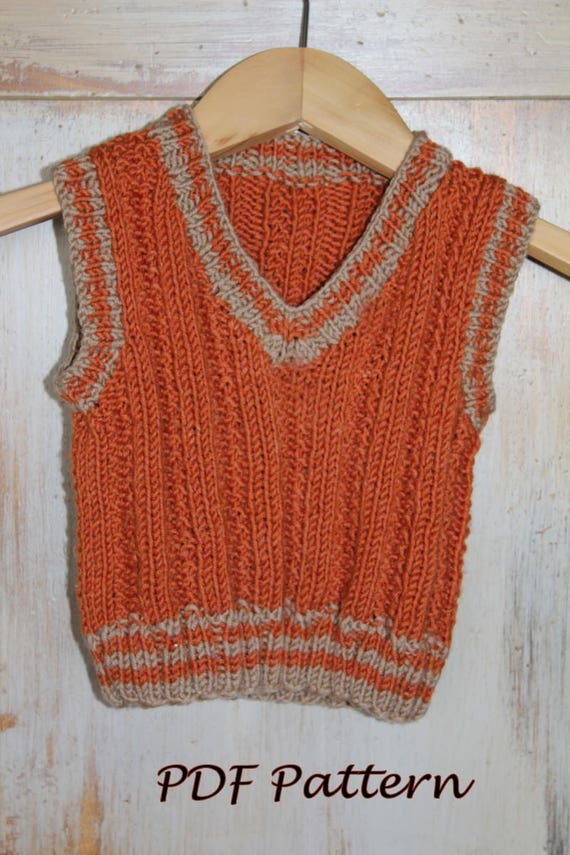 Knitting Pattern Baby Undershirt : KNITTING PATTERN Baby Vest knitting pattern PDF. Baby