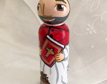 Saint Robert Bellarmine Catholic Saint Doll - Wooden Toy - Made to Order