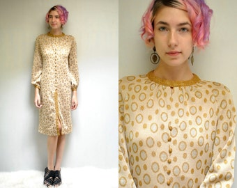 60s Sweater Dress  //  Gold and Silver Dress  //  THE TANNEL