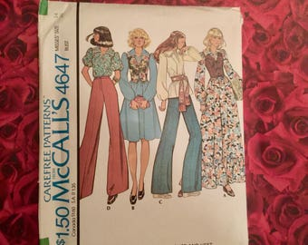 70's Vintage Mccalls sewing pattern