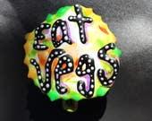 Vegan Pin, Vegan Jewelry, Eat Vegetables, Vegetarian Pin, Vegetarian Jewelry, Vegan Gift, Vegetarian Gift, Frugal Vegan - shipping included