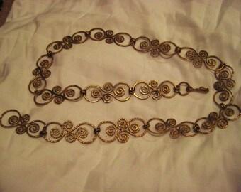 Beautiful Handcrafted brass belt-Greece-vintage-Final sale