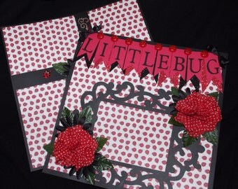 Ladybug Cute Girl Granddaughter 12x12 Premade Scrapbook Layout