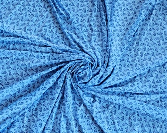 2 yds - Lycra Spandex Fabric - Blue - Stretch Fabric - Light Weight - lingerie Fabric - Free Shipping! - Stretchy Fabric - Panties