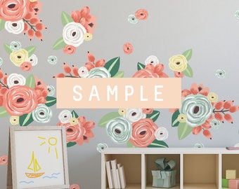 SAMPLE ** Graphic Flower Clusters in Multicolors
