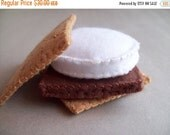 ON SALE S'more and Marshmallow on a Stick combo felt food play set