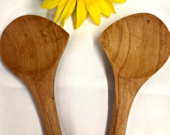 Left or Right Handed Tasting Spoon Cherry Wood
